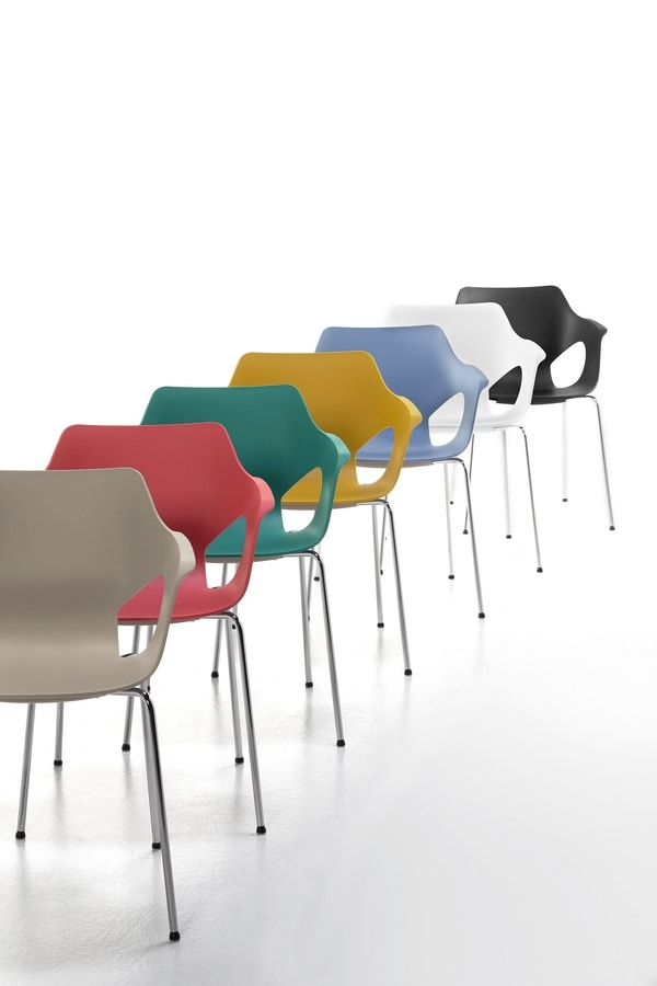 Spark 01, Stackable chair in steel and polypropylene