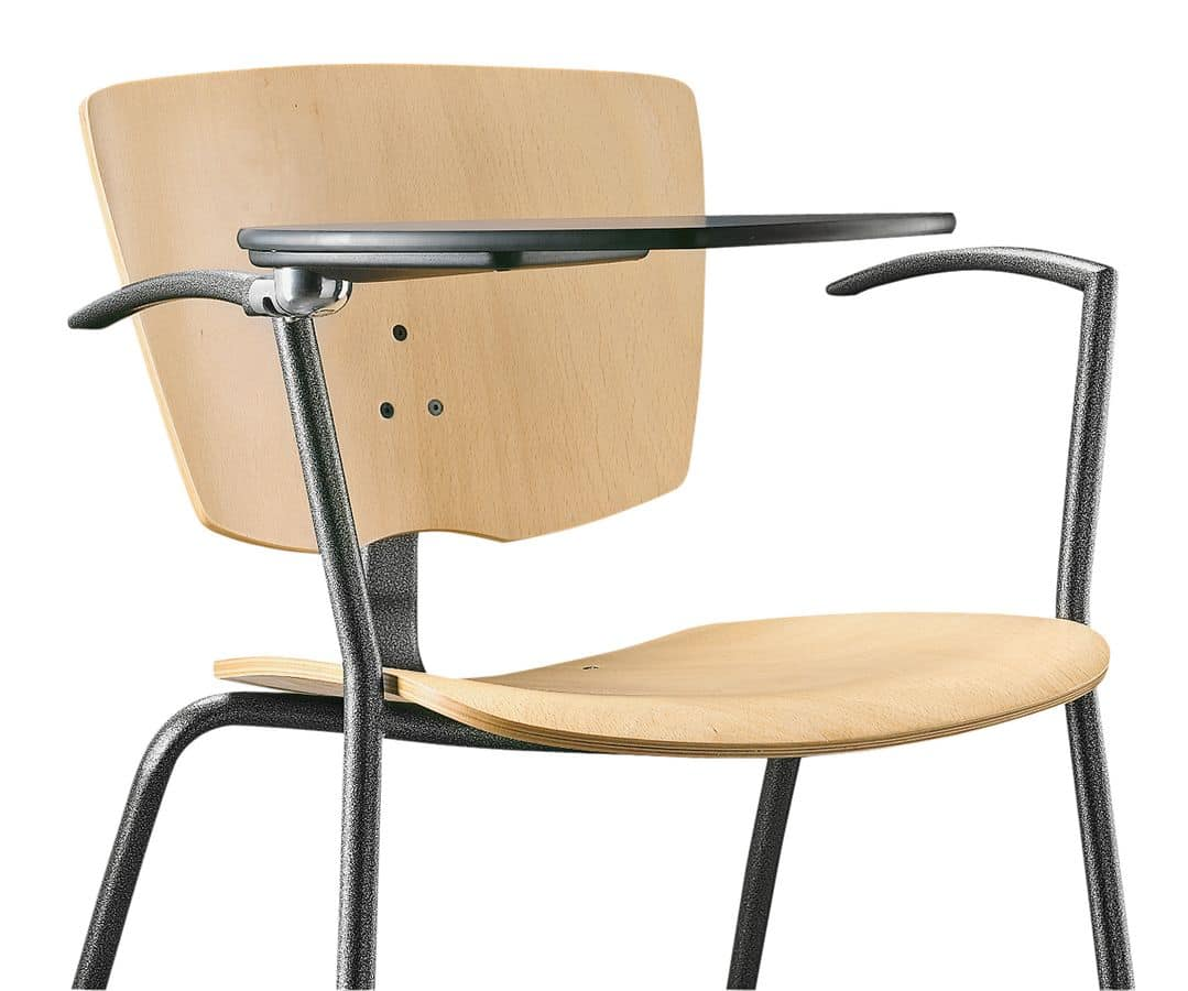 VEKTA 102 TDX, Chair with metal frame, writing tablet
