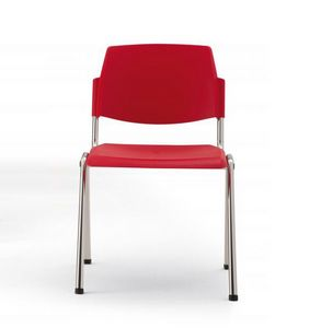Wampa, Fireproof chair made of plastic and metal for meeting rooms