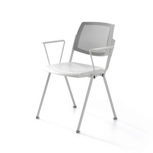 Wampa Mesh, Conference chair, upholstered, with net backrest