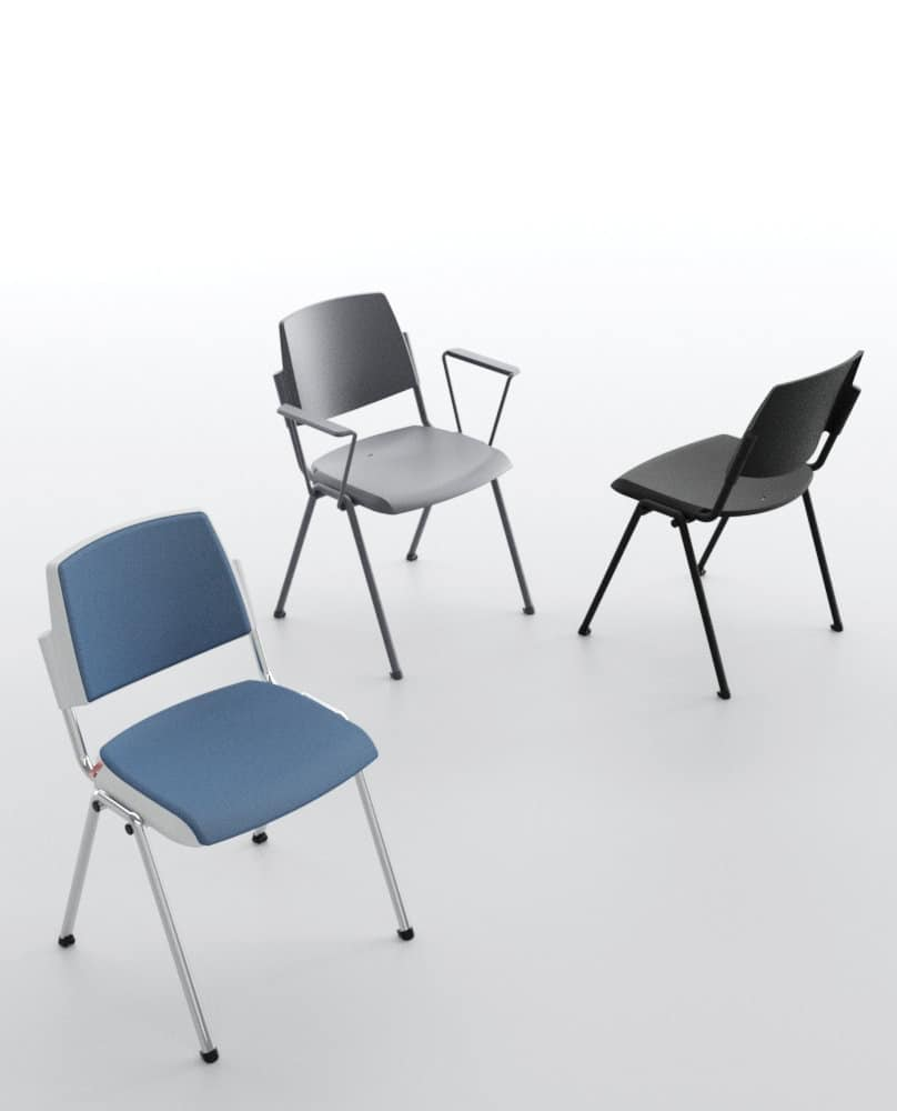 Wampa TAP, Stackable chair, padded, for meeting rooms