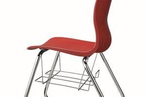 WEBBY 330, Stackable chair with sled base, with storage