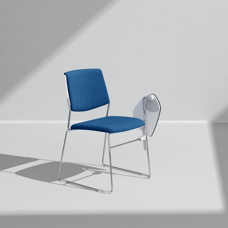 ZERO9 FILO, Stackable chair, with a light and elegant structure