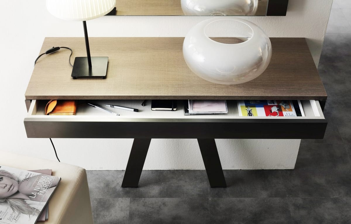 a110 delta, Console with drawer, customizable in the finishes