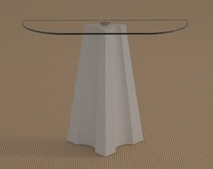 Agape, Console table with crescent-shaped top