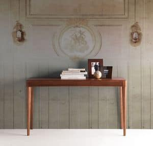 Alicante Console, Consolle made of walnut with top in solid wood