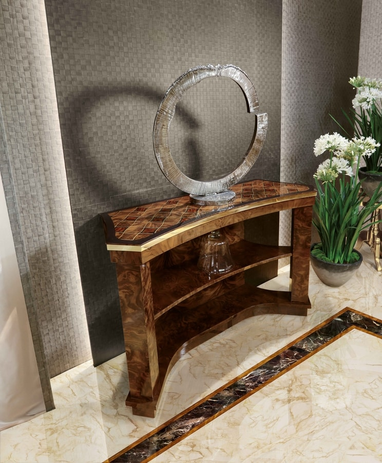 ART. 3252, Déco style console table, with inlays