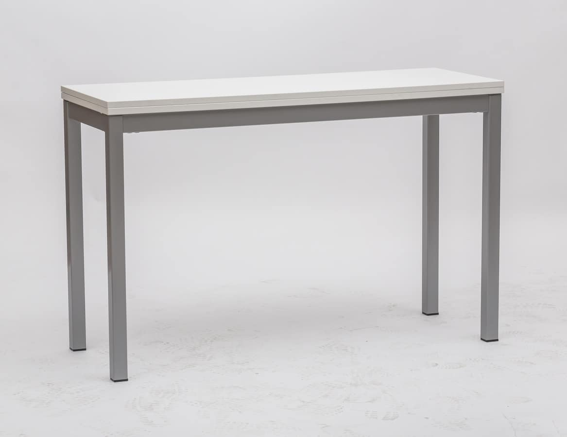Art. 723 Consollina, Metal console, with white melamine top