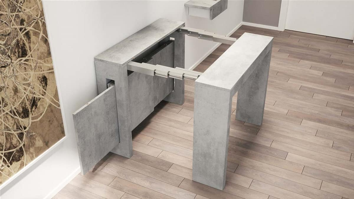 Art. 730 Exodus, Space saving console table with 3 extensions