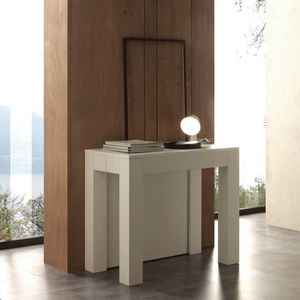 Art. 733 Cargo, Elegant extendable console, with white finish