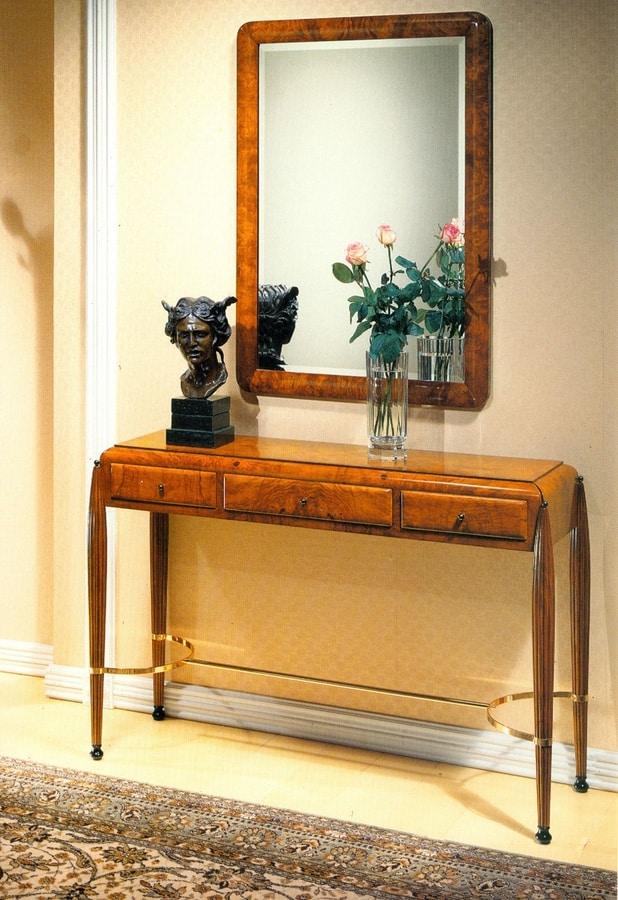 Art Déco Art.549 console, Art Dèco desk with leather top