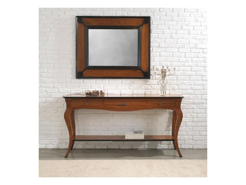 ASTRID consolle 8366K, Classic style consolle made of solid wood with drawers