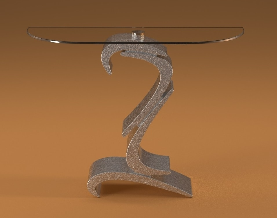 Boomerang, Console with decorated base