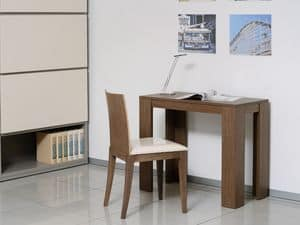 Complements Tables and Console 11, Extendable console in wood and metal