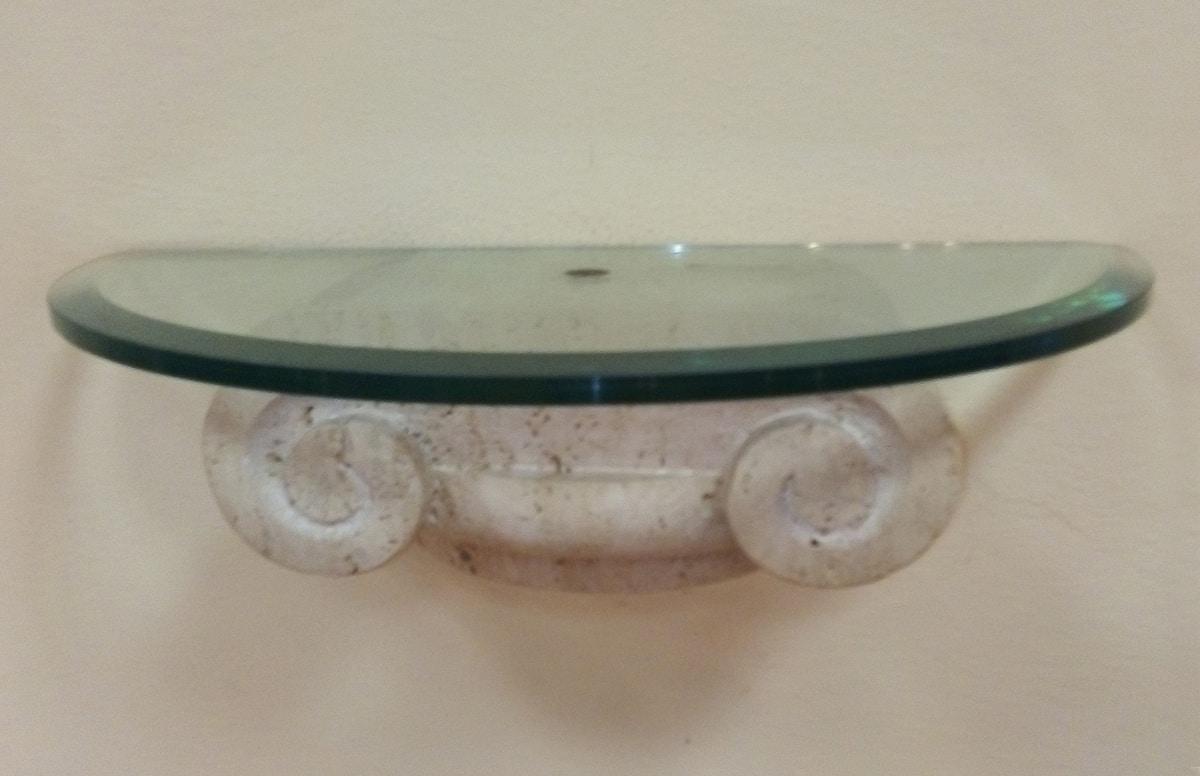 Console 03, Console in glass and trevertino stone