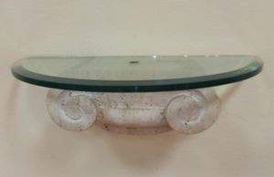 Console 03, Console in glass and trevertino stone