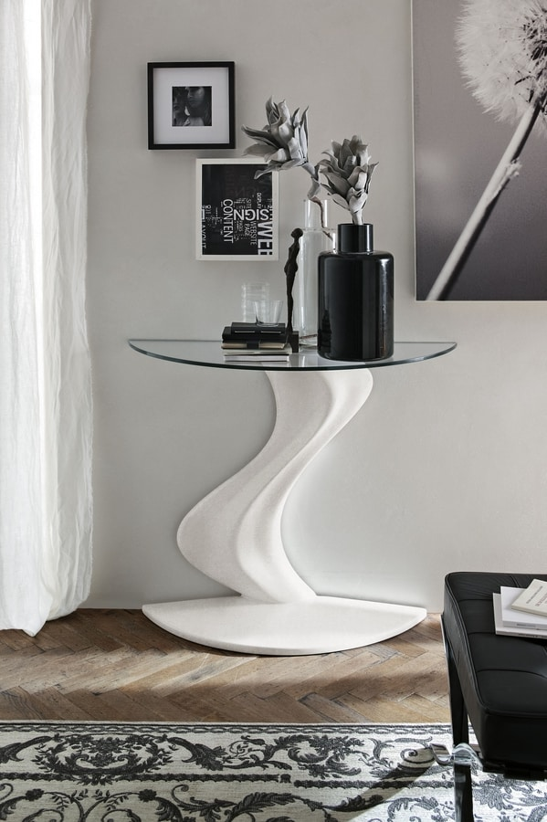 FLAME CO200, Console with base that recalls the shape of a flame