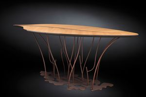 Foglia Fenice console, Console with leaf-shaped top
