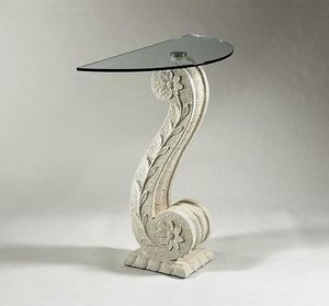 Itaca, Classic console in stone and glass