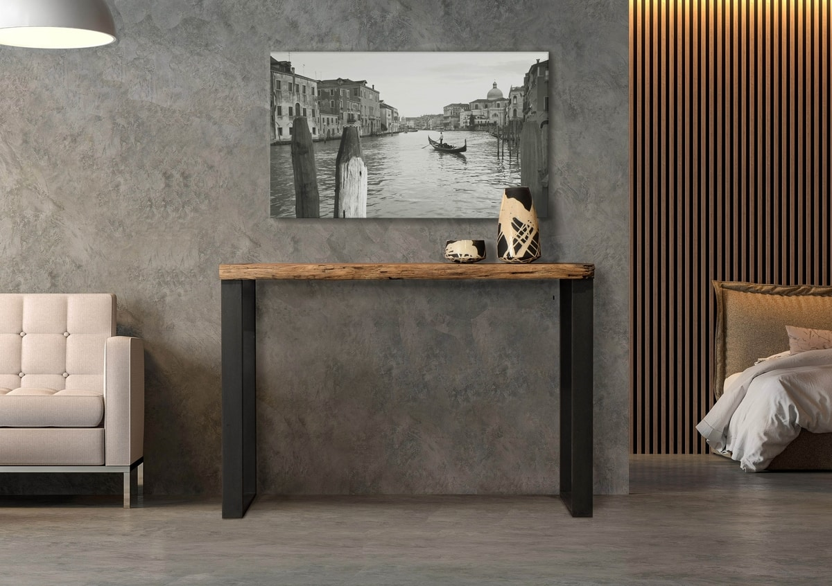 Laguna console Art. 512, Console with Venetian mooring posts top