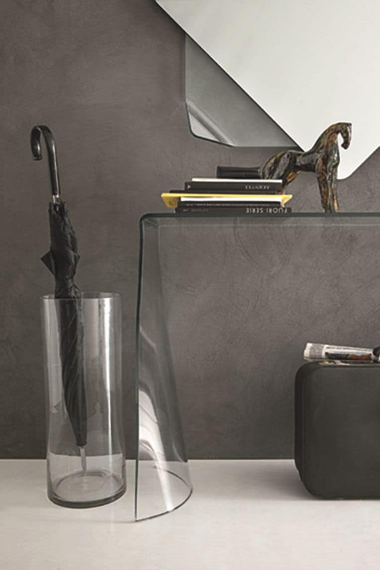 LYNX COC06, Curved glass console and mirror for modern environments