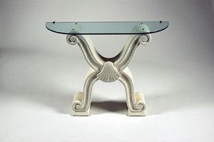 Ogma, Classic style console table, glass top
