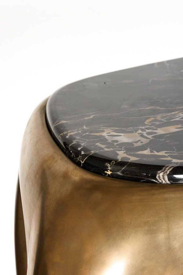 OMERO console, Contemporary console with marble top