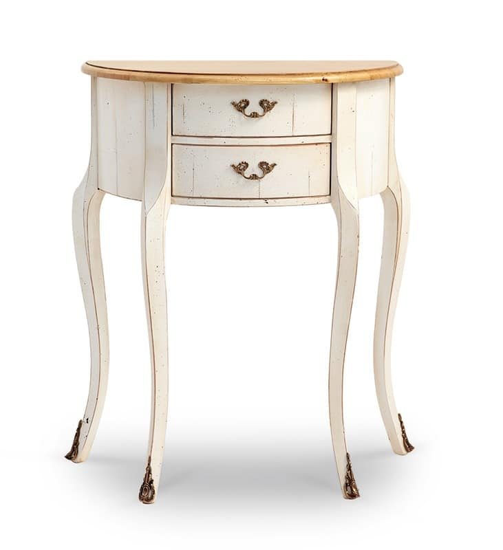 PALISA Art. 4260, Console with 2 drawers, in lacquered wood, walnut top