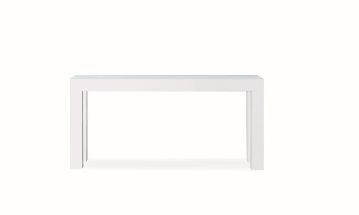 Riccardo Consolle, Metal console table with glass top, ideal for home furnishing
