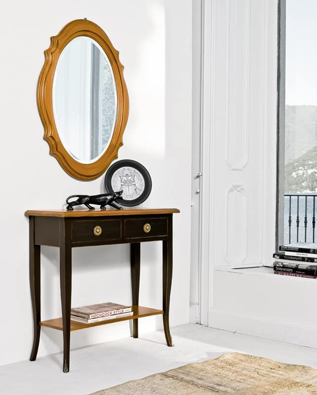 SAGITTA Art. 1456, Lacquered console in cherry, classic luxury, for entrances