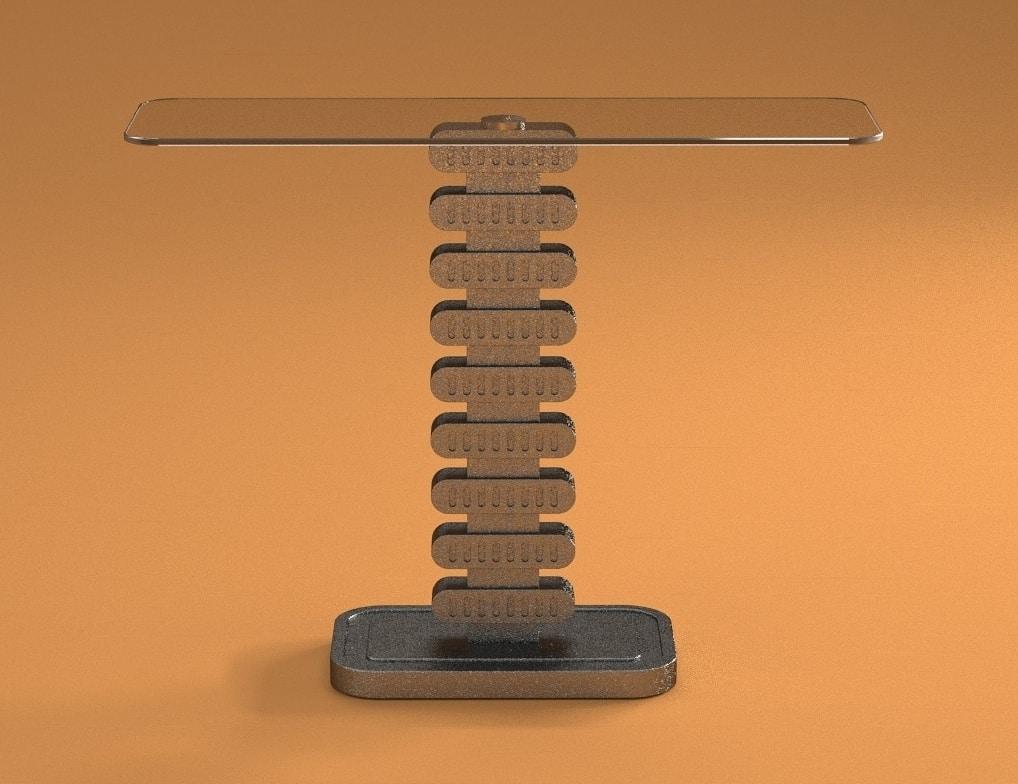 Selene, Console with stone effect base