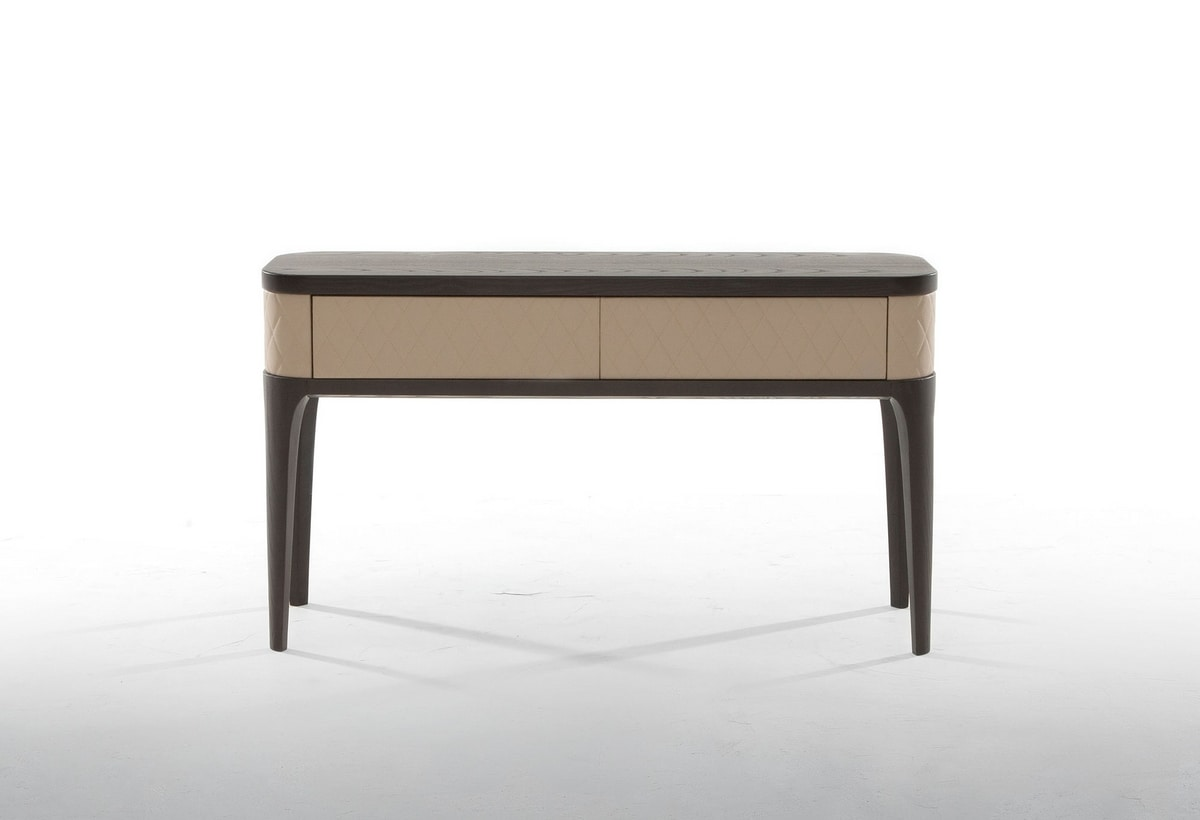 TIFFANY CONSOLE, Wooden console covered in leather