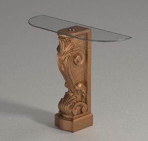 Trilussa, Entrance console with base in stone