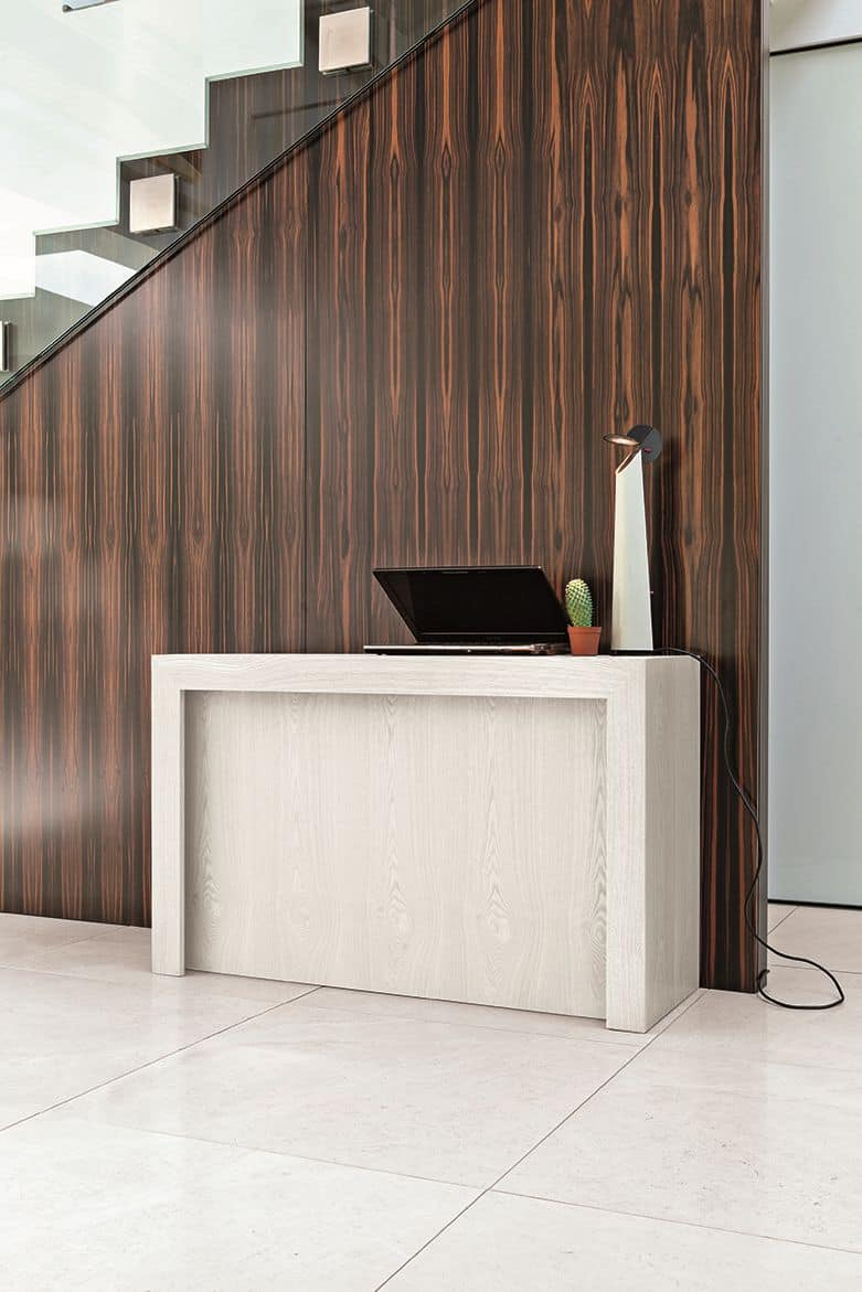 VENERE 5M CO502, Extendable consolle in wood with compartment for extensions