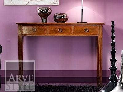 Vivre Lux console, Console table with drawers, in solid wood