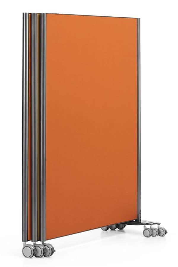 MULTIKOM 3000, Panel on wheels, in plywood and painted steel