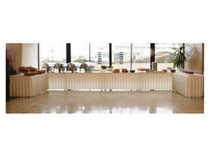 Pro Deco, Skirting for tables and platforms, for buffet and catering