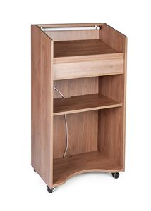 RD, Mobile lecterns in laminate with wheels with brakes, with lights