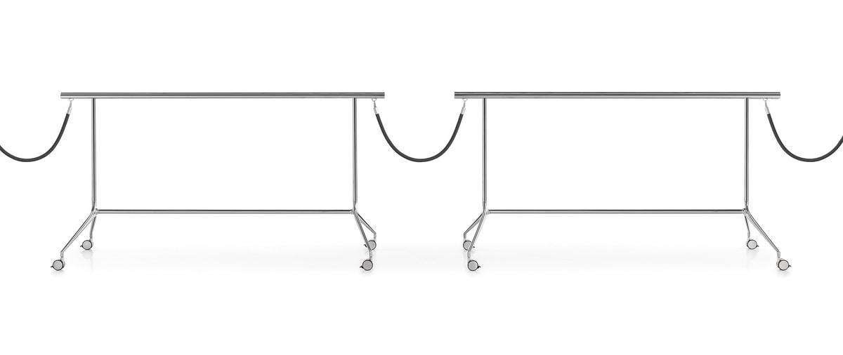 Speech barrier, Dividing barrier, with wheels