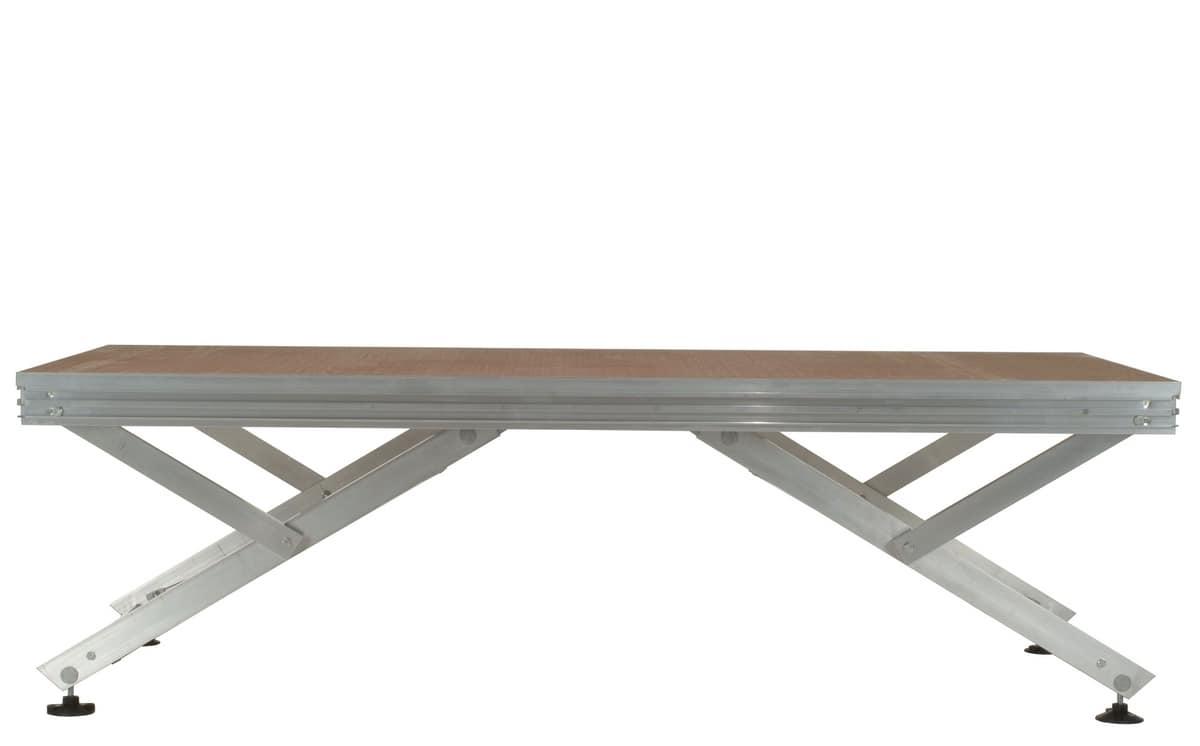 Unistage, Modular platform for composing stages, grandstands and footbridges