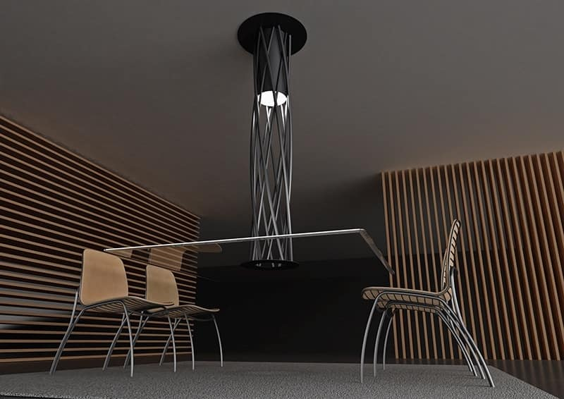 Suspended Table With Original Design Stable And