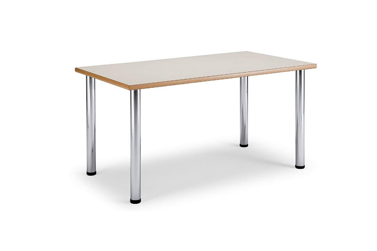 Arno 3 1623, Table with steel legs and top in laminated