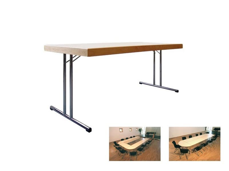 Conference 1880, Folding table with wooden floor for banquets and meetings
