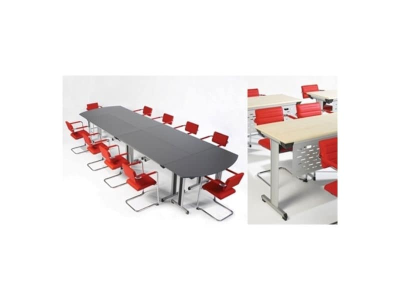 Configure-8 C.834, Folding table for offices and hotels, light and robust