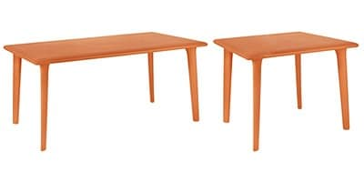 Demis, Table for restaurant and pub, in recyclable polypropylene