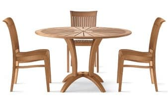 Eclypse round table, Round table in wood for outdoor use