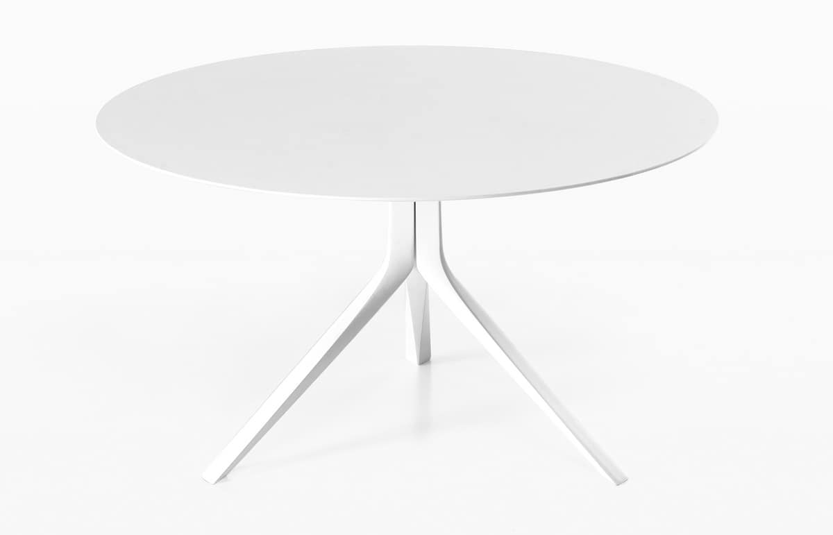 Oops i did it again round, Essential round table with aluminum legs