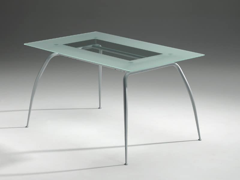 Primera table, Table with glass top, modern, residential