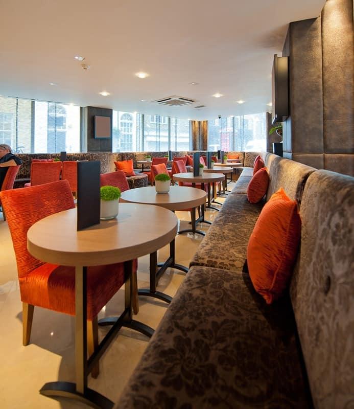 Radisson Hotel customized tables, Bar tables oval, custom made for the hotel Radisson