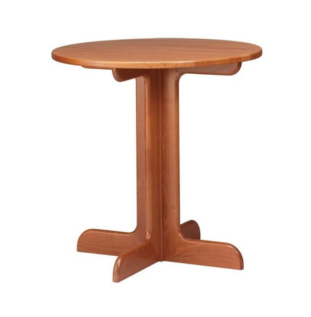 TV02, Table of beech wood in rustic style, for circles